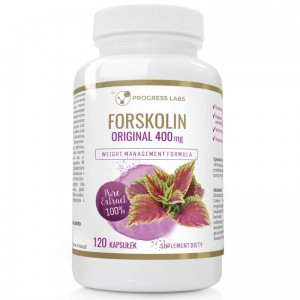 Progress Labs  Forskolin Pokrzywa Indyjska Original 400mg (120 kap)