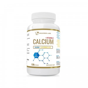 Progress Labs Calcium Wapń 800mg, Witamina C 200mg ( 120 kap)