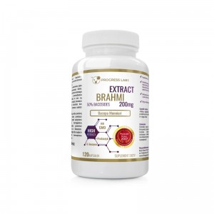 Progress Labs Brahmi Bacopa Monnieri 200mg Ekstrakt (120 kap)