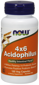 Now Foods Acidofilus 4x6 probiotyk (120 kap)