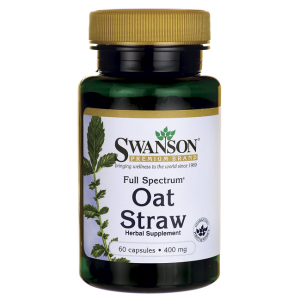 Swanson Full Spectrum Oat Straw (owies zwyczajny)  400mg - (60 kap)